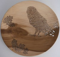 Owl And Oak Leaves Platter