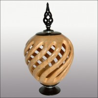 Open Barley Twist Vase