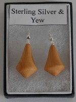 Sterling Silver & Yew Earrings